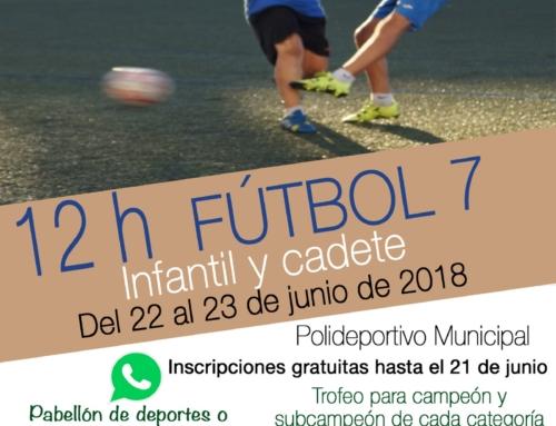 12 horas Fútbol 7 Infantil y Cadete